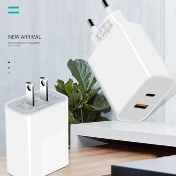 High Quality PD 18W Quick Charge 3.0 USB Charger Fast Charging US EU Plug Wall Adapter For Iphone 12 11 8 7 6s For Samsung*
