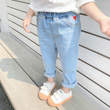 CNUM Spring Baby Girls Jeans Pants Kids Clothes Cotton Casual Children Trousers Teenager Denim Boys Clothes jeans modis m182d00152 for boys kids clothes children clothes tmallfs