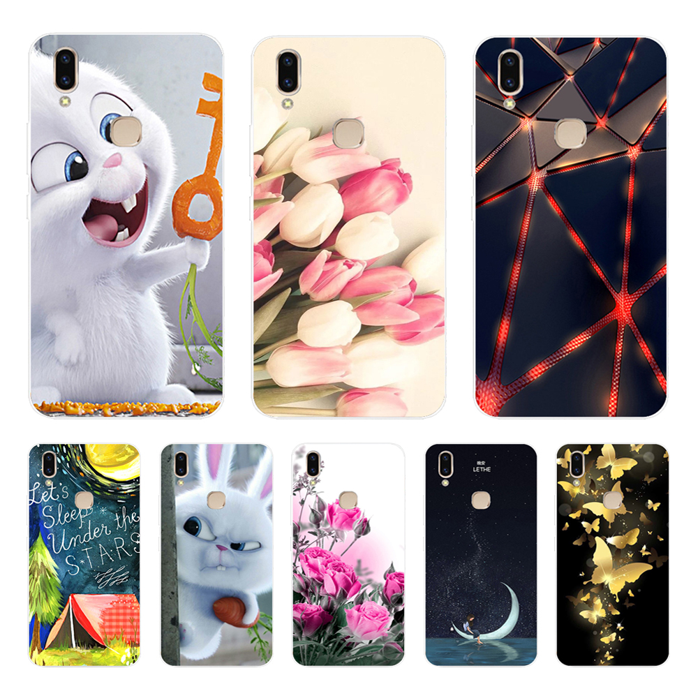 For VIVO V9 Case For Vivo Y85 Covers 6.3'' Soft TPU Silicone Cover For VIVO V9 Clear Bumper Fundas For VIVO V9 Youth Phone Cases