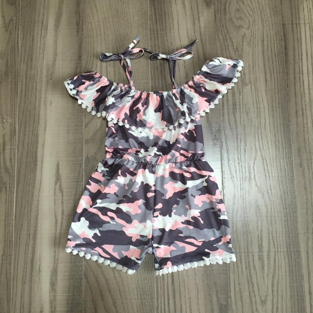 Baby Girls Summer Clothes Girls Camouflage Print Romper