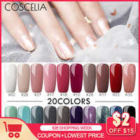 COSCELIA 20pcs/Lot UV Gel Nail Polish Set 8ml Manicure Soak Off UV Gel UV Gel Color Polish All For Manicure Pedicure Nail Tools
