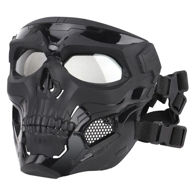 Wosport Skull Tactical Airsoft Mask Paintball CS Military Protective Full Face For Fast Helmet #d 1