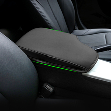 Microfiber Leather Center Console Armrest Box Protection Pad Cover Trim for BMW 3 Series F30 2013 2014 2015 2016 2017 2018