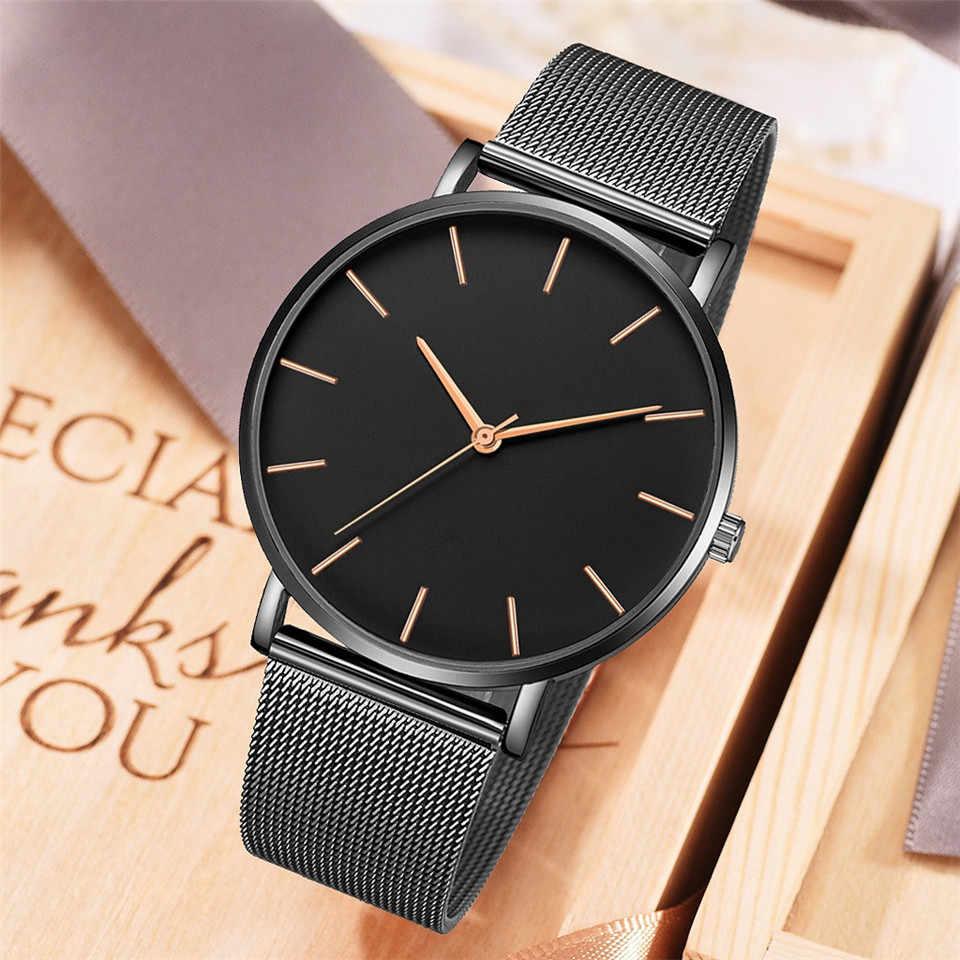 Frauen Uhr Rose Gold Montre Femme 2019 frauen Mesh Gürtel ultra-dünne Mode uhren para mujer Luxus Handgelenk uhren reloj mujer