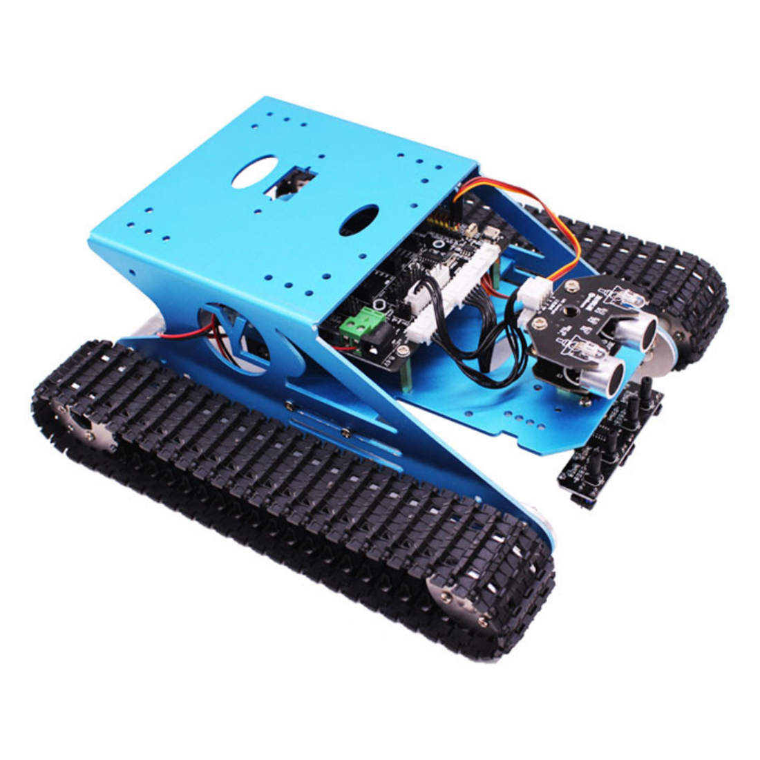 Track Robot Kit Programmable Smart Tank Mobile Platform Chassis Robot Kit Electronic Project Learning With C Language&Graphical