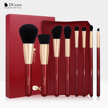 DUcare 8PCS Makeup Brushes Set with Bag Eye Shadow Foundation Powder Contour Make Up Brush Cosmetic Beauty Tool Kit ducare new 15 pcs makeup brushes set professional foundation eye shadow brush high quality cosmetic make up brush kit