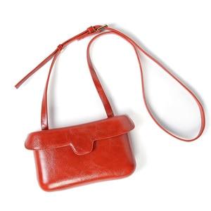 Image 5 - Small Square Messenger Shoulder Bags Leather Flap Simple Designer Handbags Vintage Casual Crossbody Bag For Women 2020