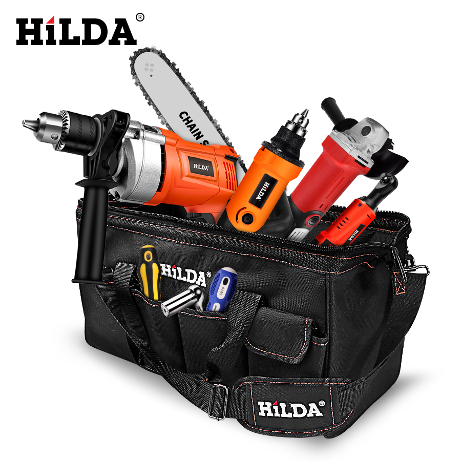 Closeout DealsHILDA Bags Hardware Canvas-Tool Electrician-Bag Large-Capacity Waterproof Size 12-14-16-18-Inch