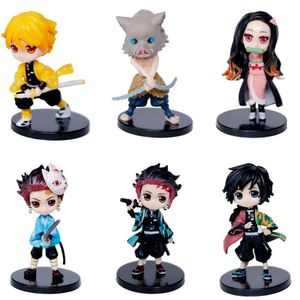 1 pcs Kimetsu no Yaiba Action FIgures Anime Statue Demon Slayer Model Kamado Tanjirou Hashibira Inosuke Agatsuma Zenitsu Kid Toy