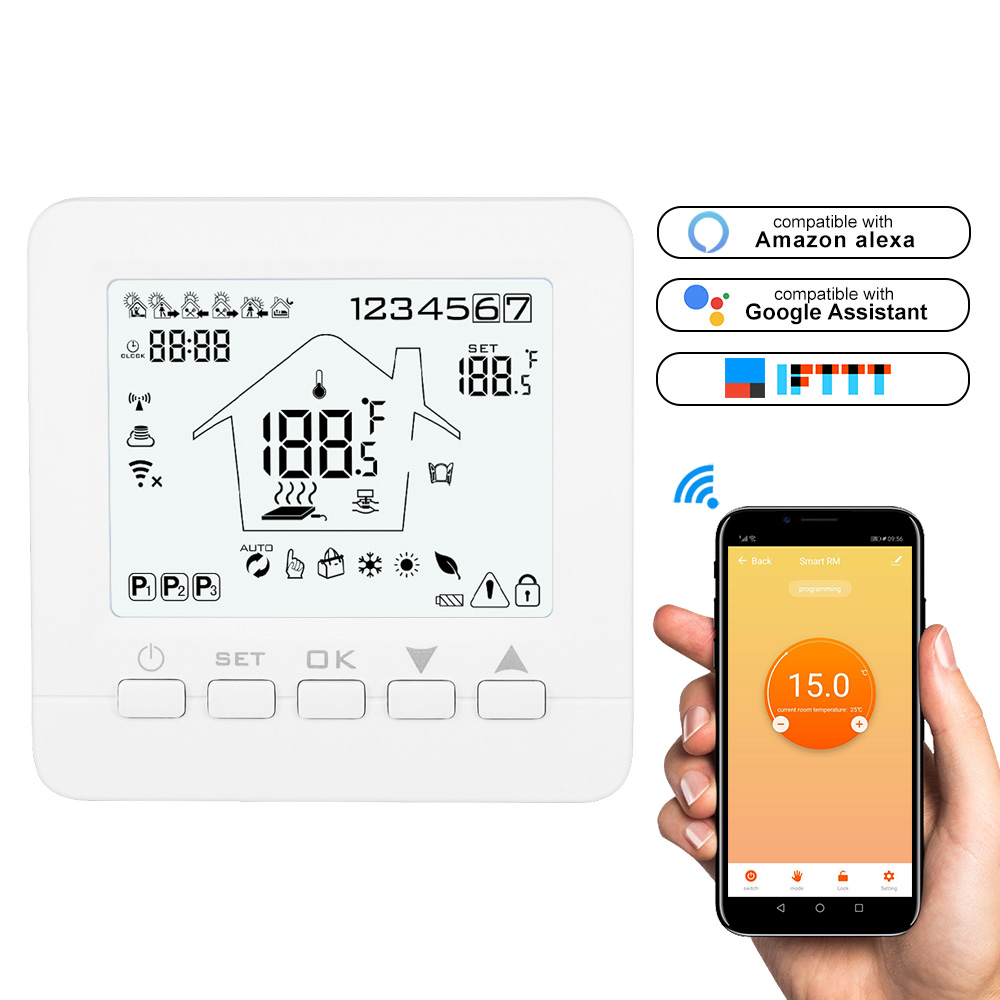 WIFI Thermostat Smart Thermostat Gas Boiler /Water/ Electric Floor Heating WIFI Controlled Thermostat Voice 16A/3A