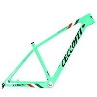 Ceccotti mountain bikes cores pintura 29er 15 17 19 polegada 142 ou 148*12mm mtb quadro de bicicleta carbono quadro navio livre nova cor
