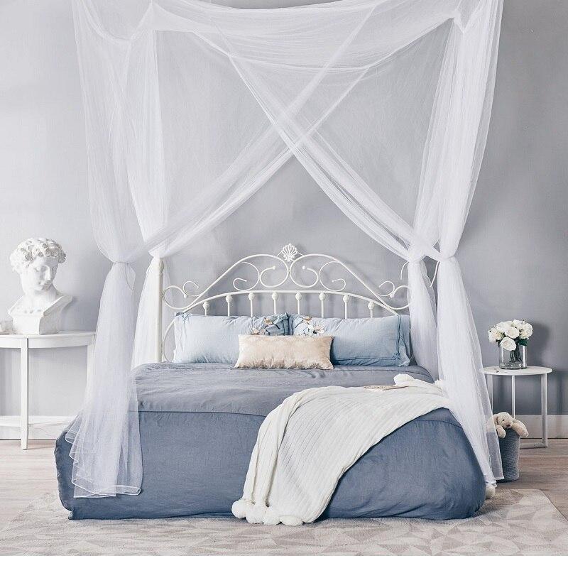 Роскошная противомоскитная сетка 4 Угловая кровать с навесом быстрая и простая установка для королевских кроватей 190x210x240 см