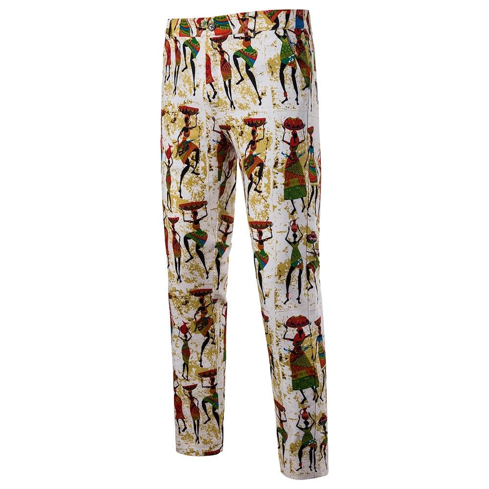 Мужская Мода Национальный Ветер Повседневное модные Для мужчин Блейзер Для мужчин s Брюки - Цвет: 12
