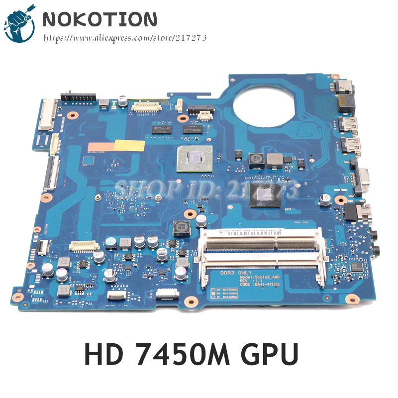 NOKOTION BA92-09430A BA92-09430B BA92-09429A BA41-01532A For Samsung NP-RV515 RV515 Laptop Motherboard HD7450M GPU DDR3