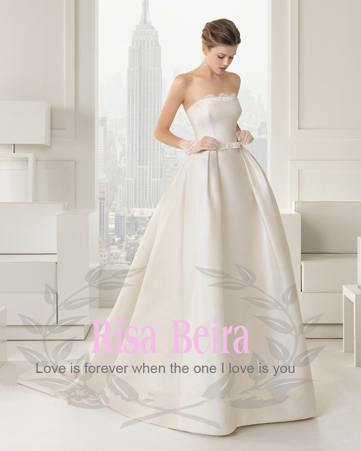 Free Shipping Saxy 2018 Hot Sale Bow Detachable Train Flowers Vestido De Noiva Casamento Bridal Gown Mother Of The Bride Dresses