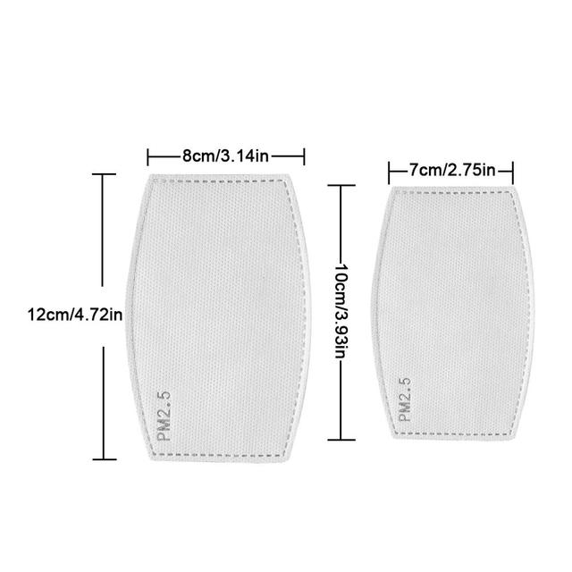 10-200PCS pm2.5 Filter PM25 5 Layer Anti Haze Disposable Mouth Mask Gasket Activated Carbon Valve Masks Washable Filter Mask 3