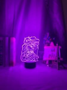 Image 5 - مصباح ثلاثية الأبعاد مفيدة الثعلب Senko سان الشكل ضوء الليل اللون تغيير Usb بطارية ضوء الليل للفتيات ديكور غرفة نوم ضوء هولو