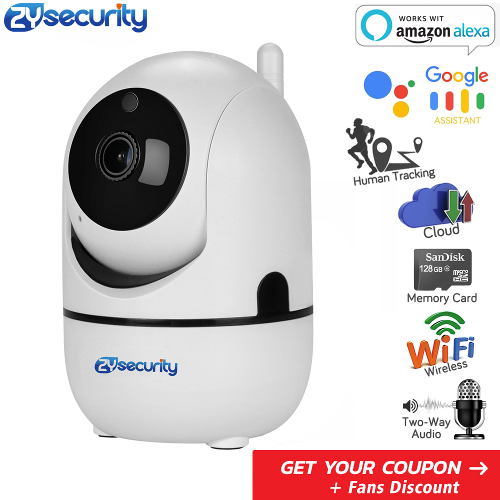 Smart Wireless Home Security Wifi IP Camera Human Tracking Work With Amazon Alexa Video Surveillance Baby Monitor WiFi Camera