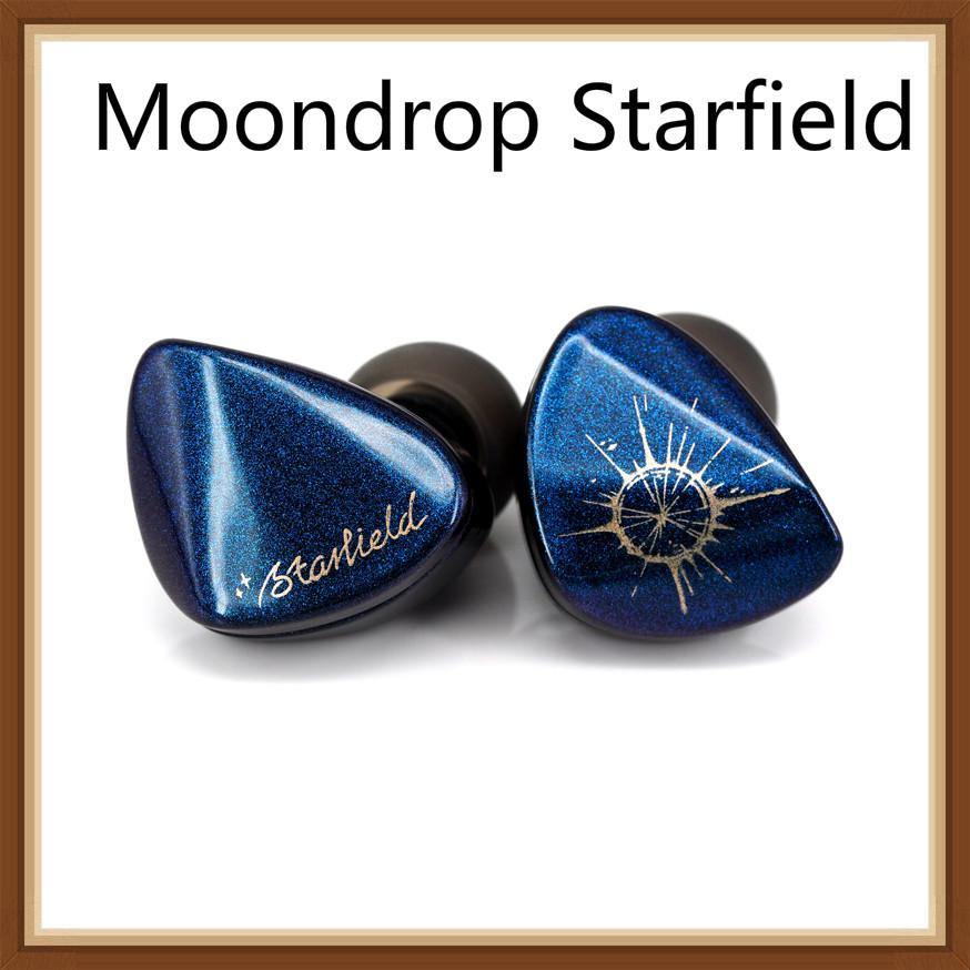 Moondrop Starfield Carbon Nano Tube Diaphragm Dynamic Earphone Stoving Varnish Colorful Hifi Music Monitor DJ Earbuds