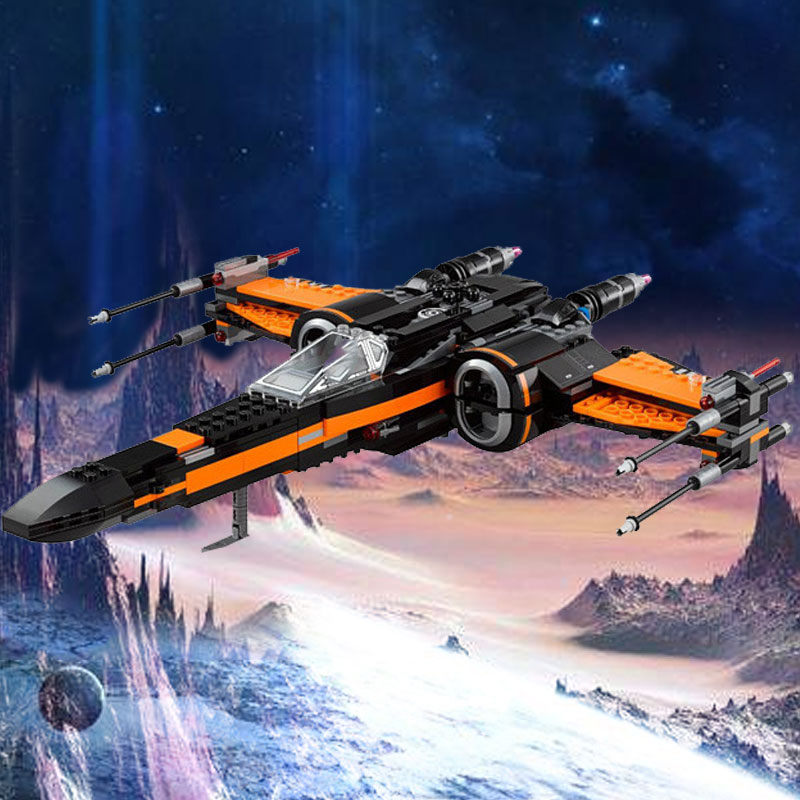 742 Pcs Poe s X Wing Fighter Star Plan Set Mini Bricks Models Building Blocks Toy