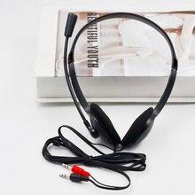 Earphone Headband Wired Adjustable Noise Cancelling for Computer Laptop Desktop