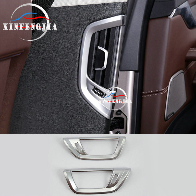 For BMW 5 Series G30 G31 17-18 2PCS Chrome ABS Rear Side Air Outlet Cover Trim image