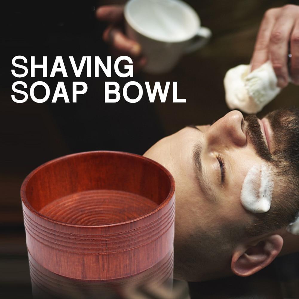 Anti-adhering Mug Cup Portable Shaving Soap Men Oak Wood Eco-friendly Bowl Brush Face Care Lightweight Beard Cleaning
