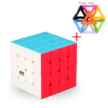 Qiyi Mofangge 4x4x4 Magic Neo Cube Shinning Stickerless 4 By Cubo Magico Puzzle Gift Toys For Children