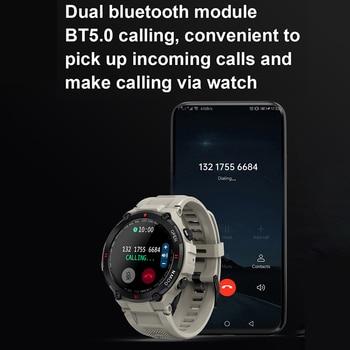 LEMFO K22 T Rex Pro Smart Watch Men 400Mah Big Battery Music Play Fitness Tracker Bluetooth Call Sport Smartwatch 2021 PK T Rex 4