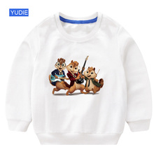 kids sweatshirt hoodie cool Baby boy clothes 2019 autumn Alvin and The Chipmunks white children cute baby girl outfit