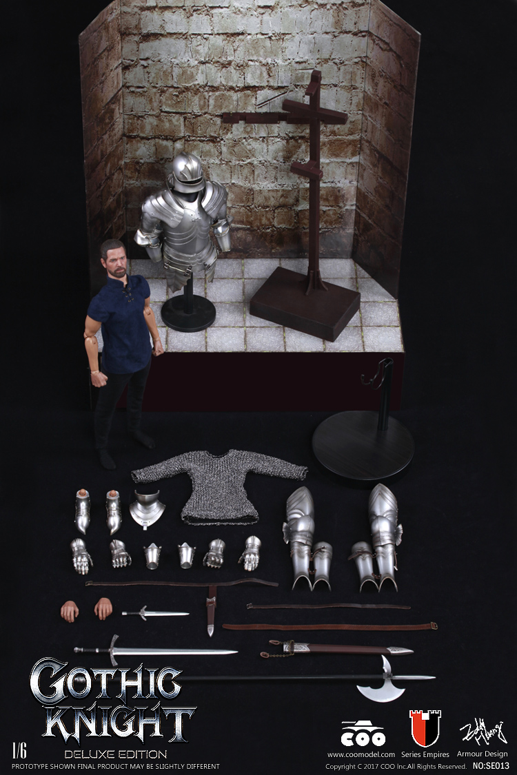 In Stock Coomodel SE013 1/6 Gothic Knight Soldier Figure Set 12'' Doll Exclusive Edit Action Figure For Collection