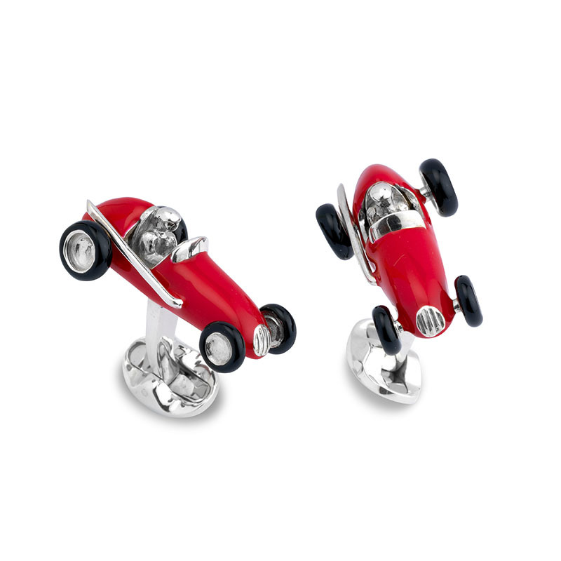 Automobile Design Vintage Car Cufflinks For Men Quality Copper Material Red Color Cuff Links Wholesale&retail