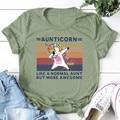 Aunticorn как обычный тетушки, но более высокий футболка; Домашние тапочки из хлопка для женщин S-3Xl новые тенденции футболка каваи Стиль топы, ле...