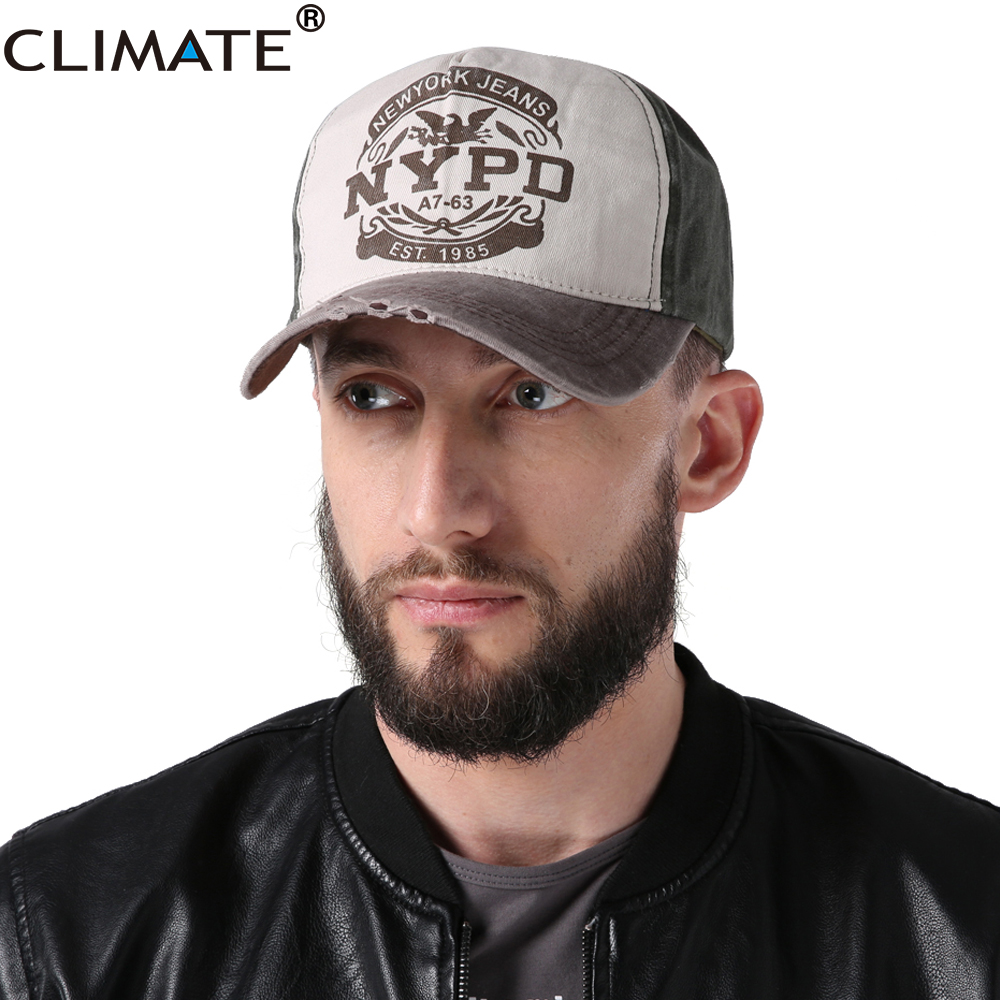 CLIMATE NYPD Baseball Caps New York Trucker Hat Caps Dad Hat Caps Police Washed Fabric Cotton Sport Caps Hat Men For Men