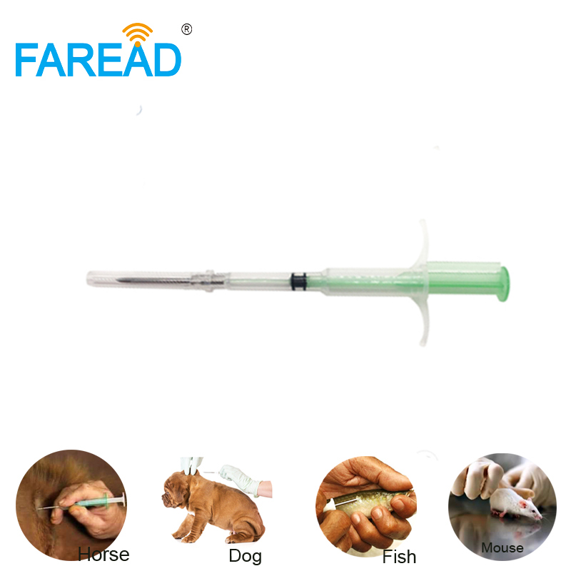 1.4x8/2.12x12mm Animal ID Pet Microchip FDX-B ISO11784/5 Worldwide RFID Implant Chip Syringe Dog Cat Fish Farm Horse Veterinary
