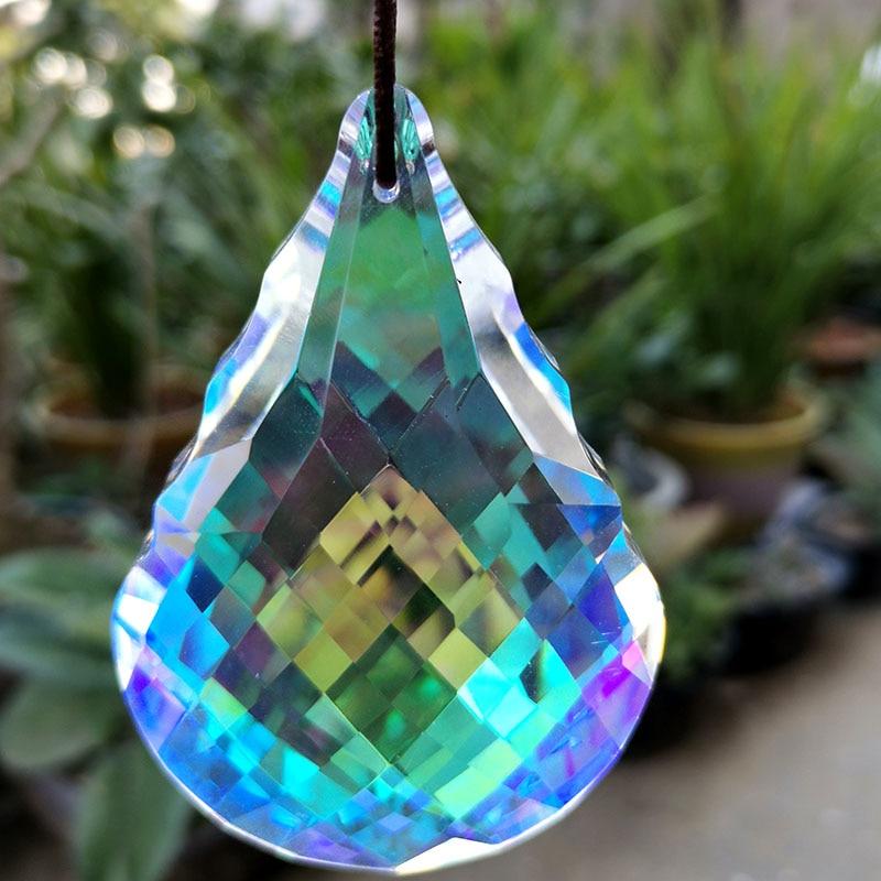 Color Crystal Prism Chandelier Parts Pendant Glass Hanging Suncatcher Beads Garland Home Wedding Window Decor Figurine Ornament