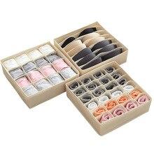 Socks Home Separated Underwear Storage Box 7 Grids Bra Organizer Foldable Drawer Washable Closet