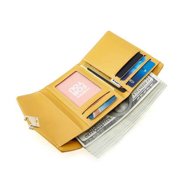 Trifold Wallet Women With Kiss-lock