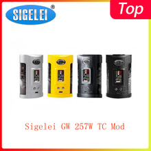 Распродажа! Sigelei GW 257 Вт TC мод питание от двух батарей 21700/20700/18650 с макс. 257 Вт Выход vape мод