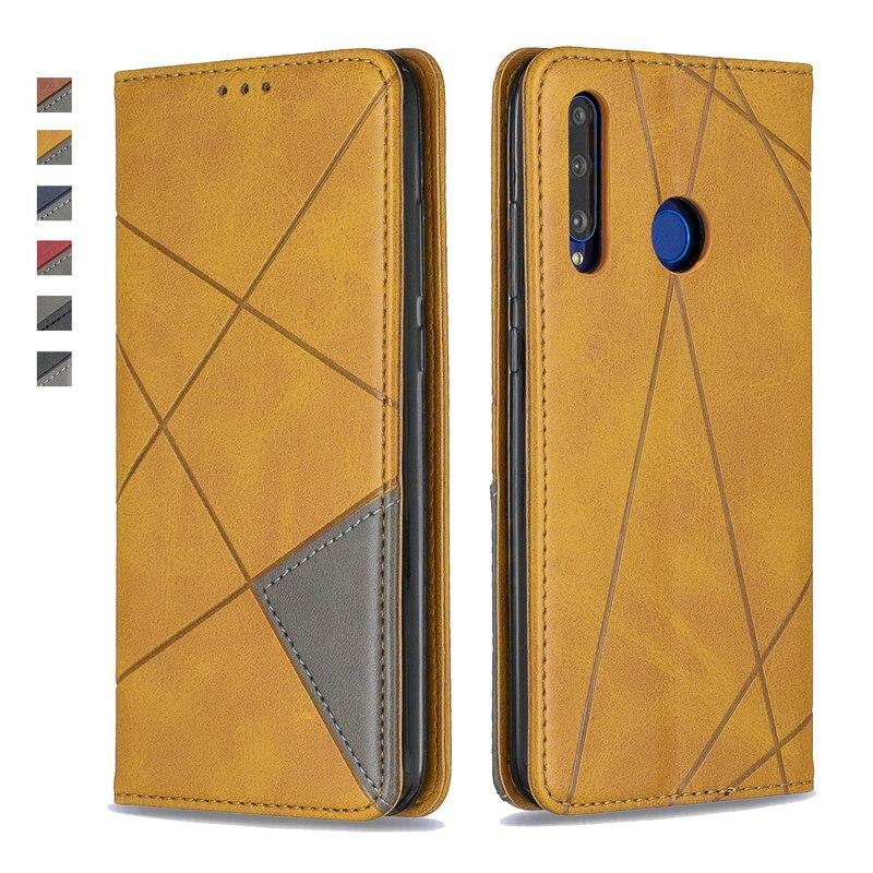 P Z Inteligente Caso de Couro de luxo para Huawei Huawei P 2019 Inteligente Caso 360 Tampa Articulada de Proteção para Funda Huawei P Smart Plus 2019 +