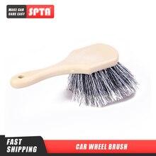 SPTA cepillo para rueda de coche, cepillo de limpieza con detalle automático para rueda de coche, cerdas de nailon, cepillo para llantas llanta de rueda de coche, Herramientas de limpieza