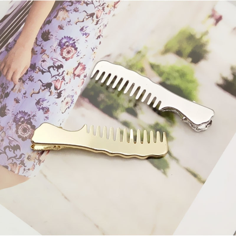 Fashion Women Girl Slip Comb Hairpin Korean Jewelry Metal Duckbill Clip Small Clips Hairpin Hair Clip Headwear Hair Accessories