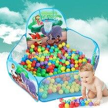 Дети в помещении и на открытом воздухе игровой домик палатка игрушка животное динозавр 1,2 м складной стрельба океанов мяч бассейн волна