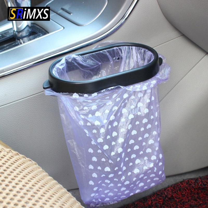 Car Trash Can Frame Portable Car Trash Bin Holder Auto Garbage Bag Holder Car Interior Accessories