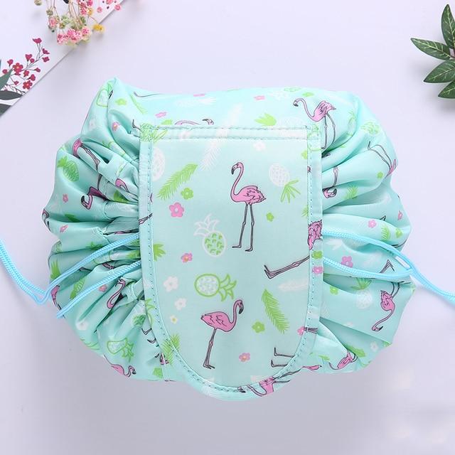 Women Drawstring Travel Cosmetic Bag Makeup Bag Organizer Make Cosmetic Bag Case Storage Pouch Toiletry Beauty Kit Box OC471 5