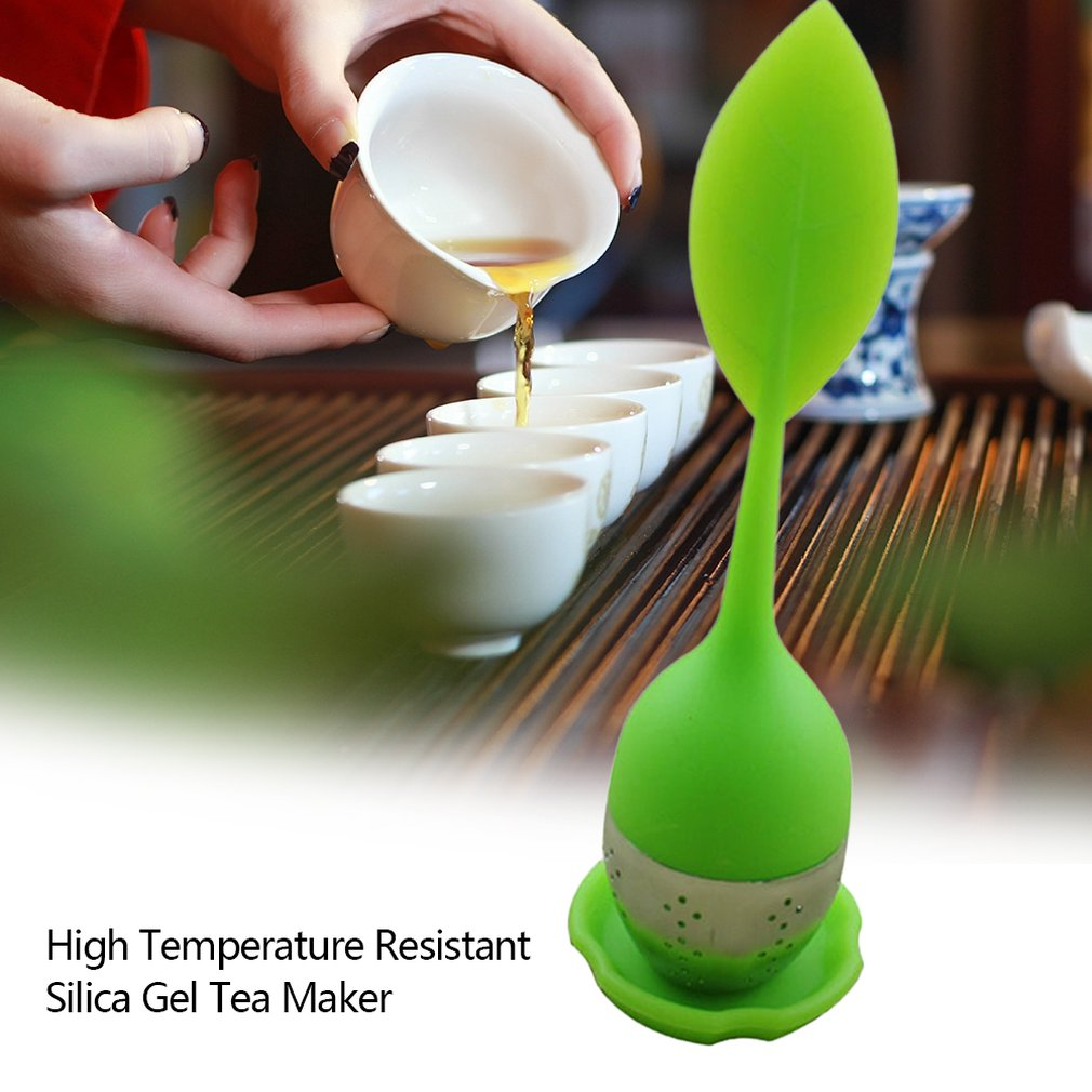 1pc Silicone Tea Infuser Filter Stainless Steel Tea Ball Leaf Tea Strainer