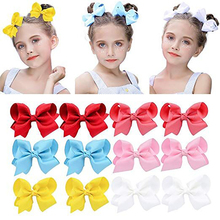 30Pcs/lot 4 Wholesale Hair Accessories Children Solid Bows Clip for Girls Handmade Bowknot Hairgrip Fashion Headwear