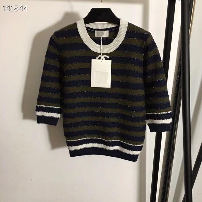 Женские свитера для подиума 2020, рождественские пуловеры с пайетками, роскошные полосатые Цветные Лоскутные Свитера, вязаные женские модные топы - 3