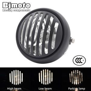 "Image 1 - Headl אור להארלי 6.5 ""אופנוע פנס הקרנת מנורת עבור הונדה ימאהה קוואסאקי ופר Bobber סיור קפה רייסר"