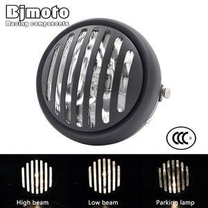 """Image 1 - Headl luz para harley 6.5 """"lâmpada de projeção do farol da motocicleta para honda yamaha kawasaki chopper bobber touring cafe racer"""